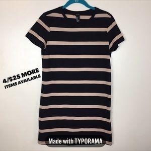 4/$25 Forever 21 | T-Shirt Striped Mini Dress